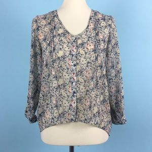 💰 UO Pins and Needles Sheer Floral Blouse